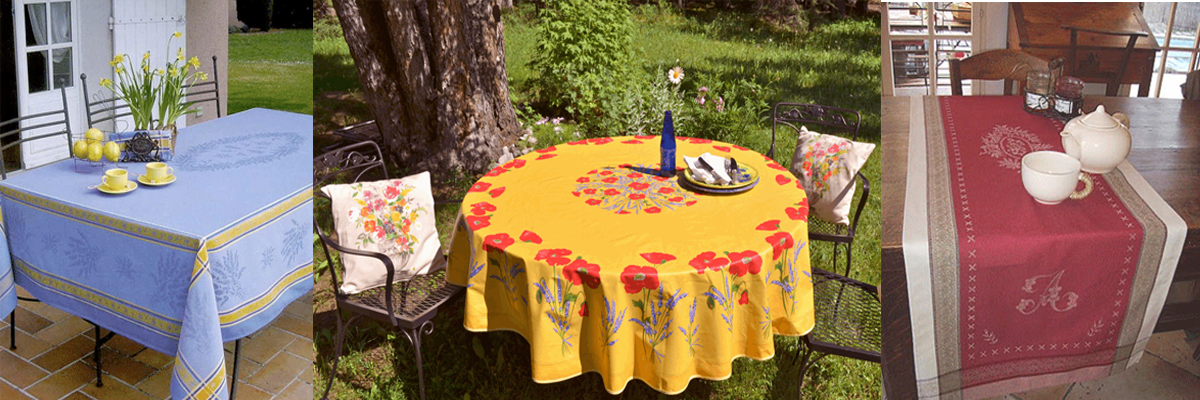 Table Linens from Provence, France