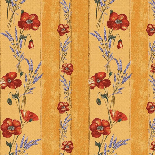 "French Coated Tablecloth Collection ""Coquelicot"" Yellow"
