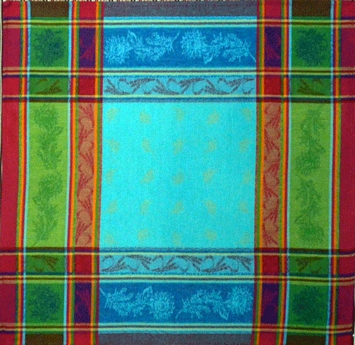 "French Jacquard Napkin  Collection ""Cezanne"" Turquoise"