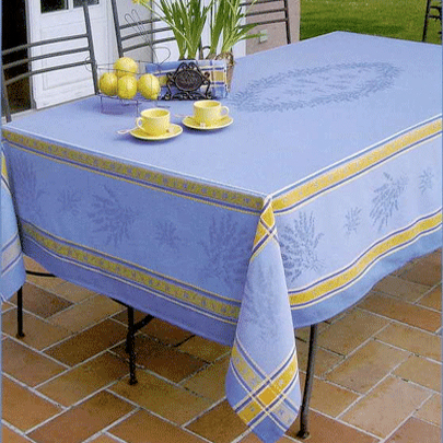 "French Jacquard Tablecloth Collection ""Senanque"""
