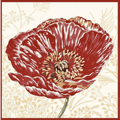 "French Tapestry Pillow Collection ""Poppy"""