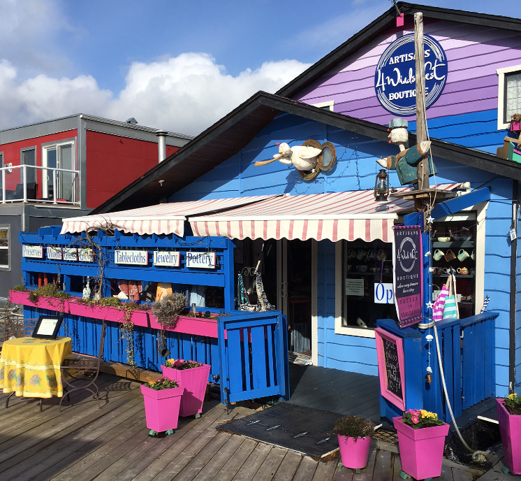 4 Winds Nest Artisans Boutique is our store located on the docks of the Fisherman