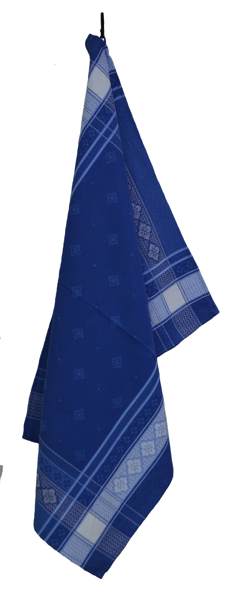 """French Jacquard Tea Towel - Collection """"Callas"""" Blue, Size: 20 x 27 inches, Price CAN$19.95"""