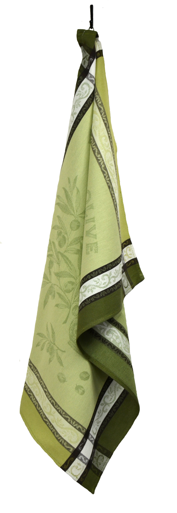 """Olives French Jacquard Tea Towel - Collection """"Olive"""" Green, Size: 21 x 29 inches, Price CAN$19.95"""