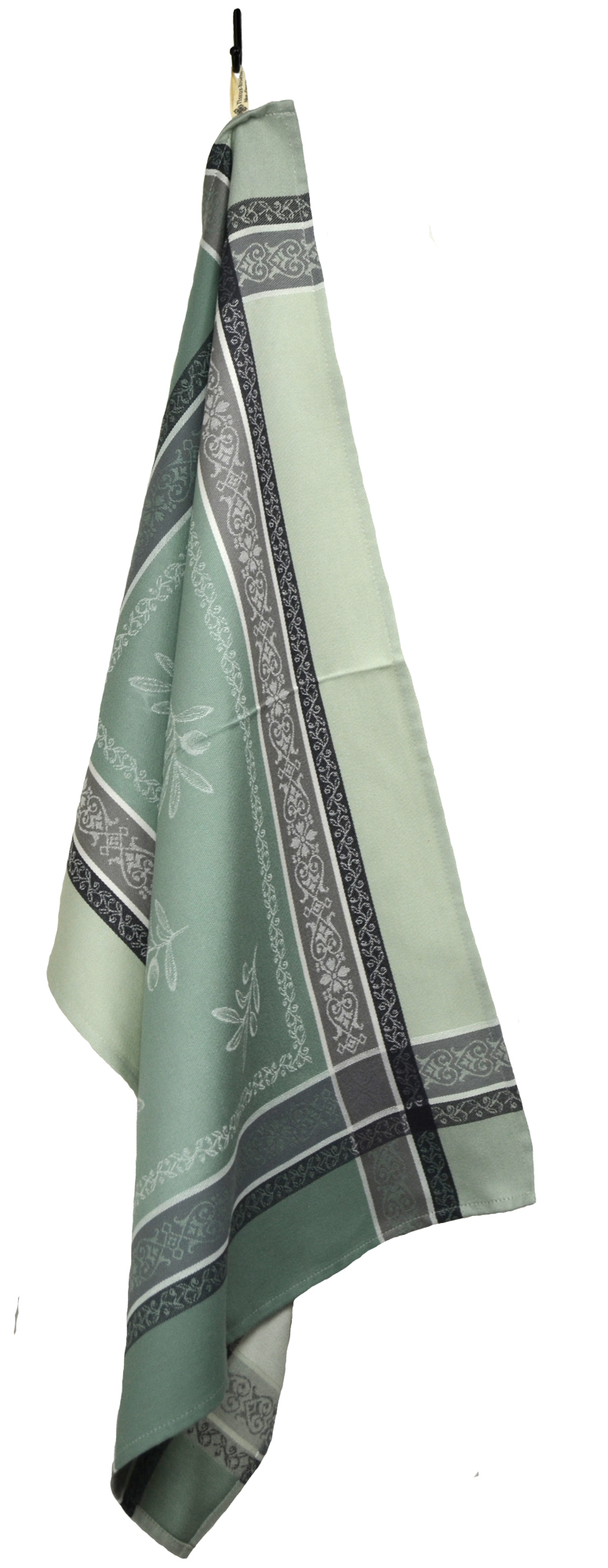 """Olives French Jacquard Tea Towel - Collection """"Olivia"""" Green, Size: 21 x 29 inches, Price CAN$19.95"""